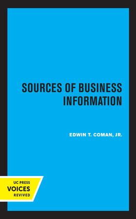 Coman | Sources of Business Information | Buch | sack.de