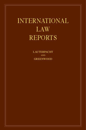 Lauterpacht | International Law Reports | Buch | sack.de