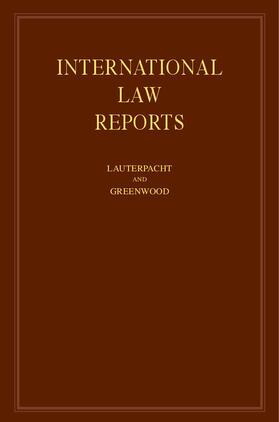 Lauterpacht / Greenwood | International Law Reports | Buch | sack.de