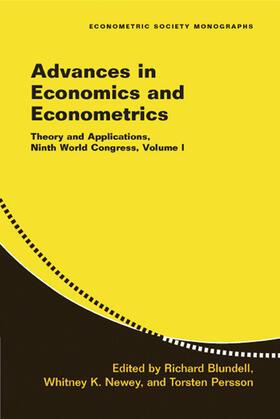 Blundell / Newey / Persson   Advances in Economics and Econometrics   Buch   sack.de