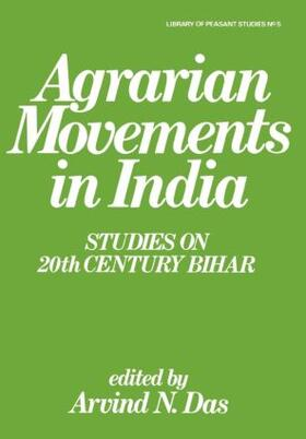 Das | Agrarian Movements in India | Buch | sack.de