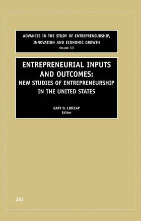 Entrepreneurial Inputs and Outcomes, 13 | Buch | sack.de