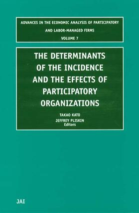 The Determinants of the Incidence and the Effects of Participatory Organizations | Buch | sack.de