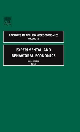 Experimental and Behavioral Economics | Buch | sack.de