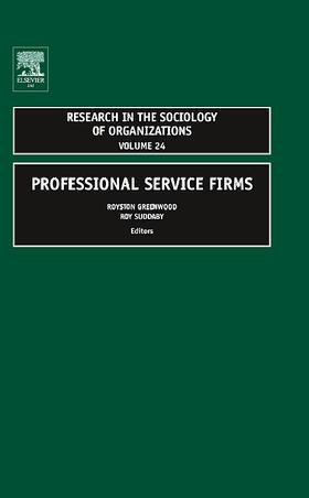 Greenwood / Suddaby / McDougald | Professional Service Firms | Buch | sack.de