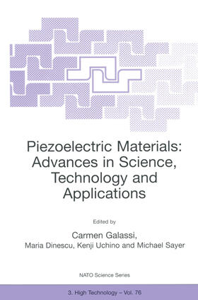 Galassi / Dinescu / Uchino | Piezoelectric Materials: Advances in Science, Technology and Applications | Buch | sack.de