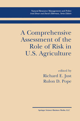Just / Pope | A Comprehensive Assessment of the Role of Risk in U.S. Agriculture | Buch | sack.de