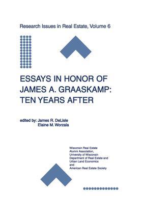 DeLisle / Worzala | Essays in Honor of James A. Graaskamp: Ten Years After | Buch | sack.de