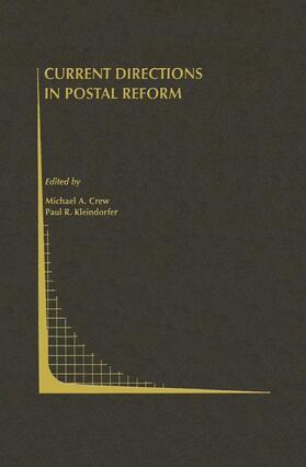 Crew / Kleindorfer | Current Directions in Postal Reform | Buch | sack.de
