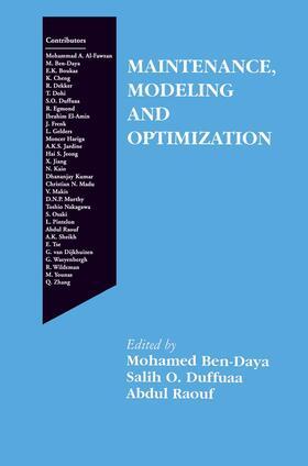 Ben-Daya / Duffuaa / Raouf   Maintenance, Modeling and Optimization   Buch   sack.de
