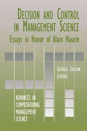 Zaccour   Decision & Control in Management Science   Buch   sack.de
