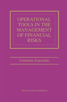 Zopounidis | Operational Tools in the Management of Financial Risks | Buch | sack.de