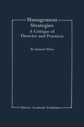 Eilon | Management Strategies | Buch | sack.de