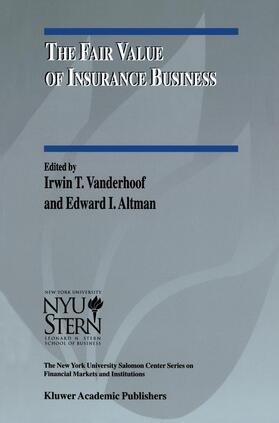 Altman / Vanderhoof   The Fair Value of Insurance Business   Buch   sack.de