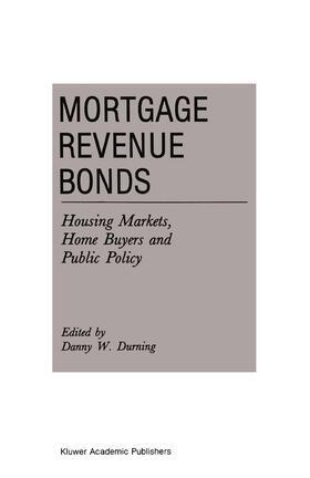 Durning | Mortgage Revenue Bonds | Buch | sack.de