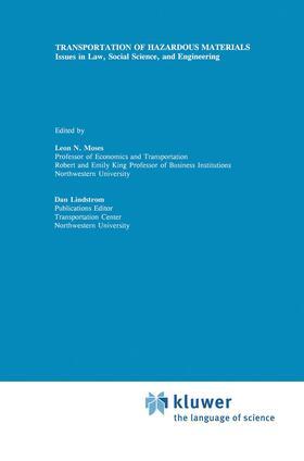 Lindstrom / Moses | Transportation of Hazardous Materials | Buch | sack.de
