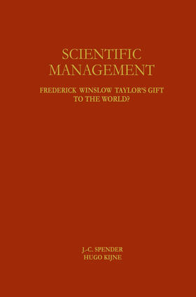 Spender / Kijne   Scientific Management   Buch   sack.de