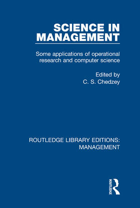 Chedzey | Science in Management | Buch | sack.de
