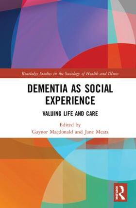 Macdonald / Mears | Dementia as Social Experience | Buch | sack.de