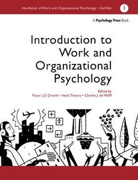 Charles,De,Wolff / Drenth / HENK | A Handbook of Work and Organizational Psychology | Buch | sack.de