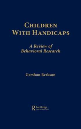 Berkson | Children With Handicaps | Buch | sack.de