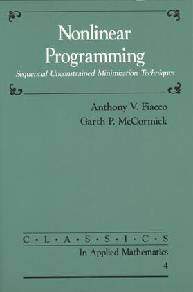 Fiacco / McCormick   Nonlinear Programming   Buch   sack.de