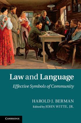 Berman / Witte, Jr | Law and Language | Buch | sack.de