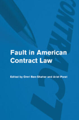Ben-Shahar / Porat | Fault in American Contract Law | Buch | sack.de