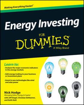 Hodge / Siegel / DeHaemer | Energy Investing For Dummies | Buch | sack.de