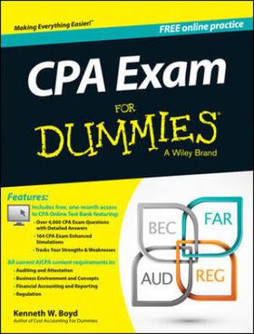 Boyd   CPA Exam For Dummies   Buch   sack.de