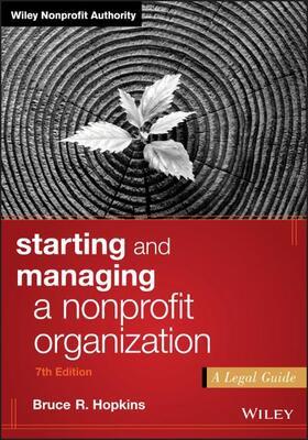 Hopkins | Starting and Managing a Nonprofit Organization | Buch | sack.de