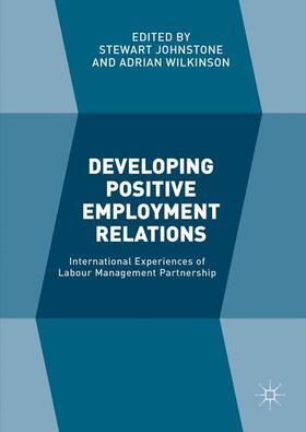 Johnstone / Wilkinson   Developing Positive Employment Relations   Buch   sack.de