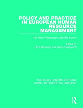 Brewster / Hegewisch | Policy and Practice in European Human Resource Management | Buch | sack.de