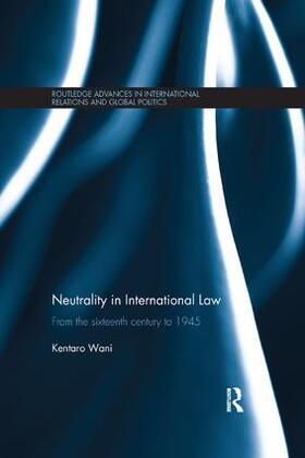 Wani | Neutrality in International Law | Buch | sack.de