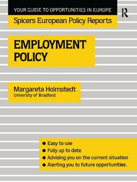 Holmstedt   Employment Policy   Buch   sack.de