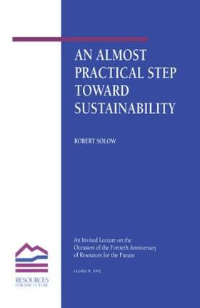 Solow | An Almost Practical Step Toward Sustainability | Buch | sack.de
