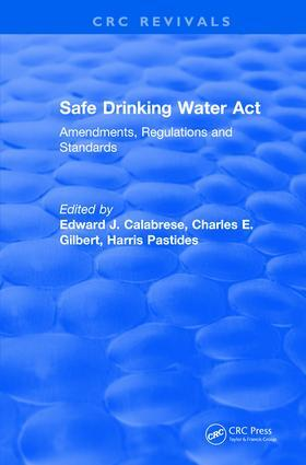 Calabrese | Safe Drinking Water Act (1989) | Buch | sack.de
