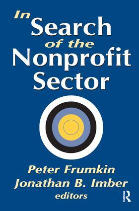 Imber   In Search of the Nonprofit Sector   Buch   sack.de