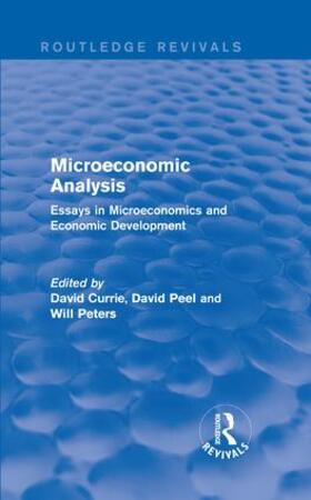 Currie / Peel / Peters   Microeconomic Analysis (Routledge Revivals)   Buch   sack.de