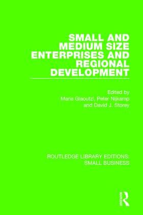 Giaoutzi / Nijkamp / Storey | Small and Medium Size Enterprises and Regional Development | Buch | sack.de