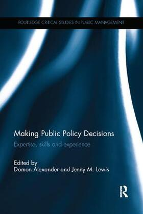Alexander / Lewis | Making Public Policy Decisions | Buch | sack.de