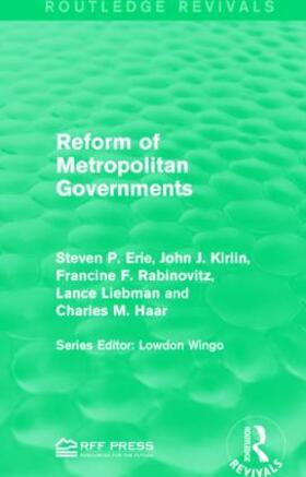 Erie / Kirlin / Rabinovitz | Reform of Metropolitan Governments | Buch | sack.de