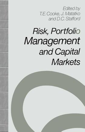 Cooke | Risk, Portfolio Management and Capital Markets | Buch | sack.de