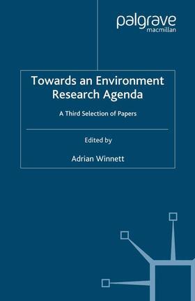 Winnett   Towards an Environment Research Agenda   Buch   sack.de