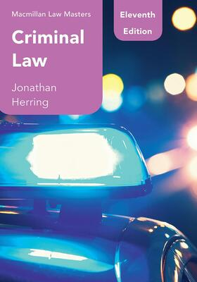 Herring | Criminal Law | Buch | sack.de