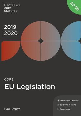 Drury | Core Eu Legislation 2019-20 | Buch | sack.de