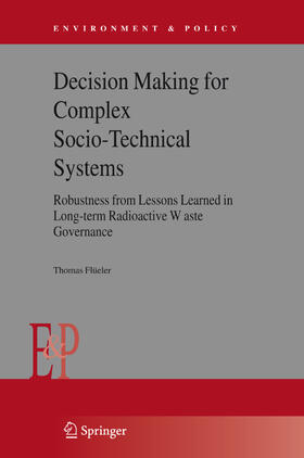 Flüeler | Decision Making for Complex Socio-Technical Systems | Buch | sack.de
