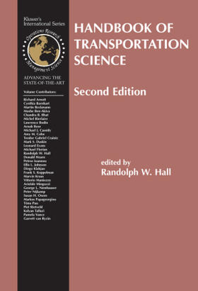 Hall | Handbook of Transportation Science | Buch | sack.de