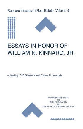 Sirmans / Worzala | Essays in Honor of William N. Kinnard, Jr. | Buch | sack.de