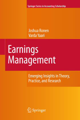 Yaari / Ronen | Earnings Management | Buch | sack.de
